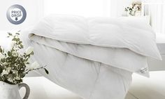 Brimming with white goose feather and down, these duvets are available in four tog weights and suitable both for summer and winter nights Goose Feathers, King Size, Duvet Covers, Bed Pillows, Pillow Cases, Sweet Home, New Homes