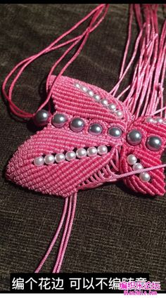 点击查看原图 Beaded Necklace Patterns, Crochet Necklace, Crafts, Jewelry, Diy, Ideas, Necklaces, Flowers, Manualidades