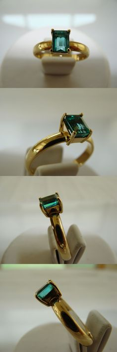 Rings Stunning 1 60 Ct Solitaire Natural Colombian Emerald
