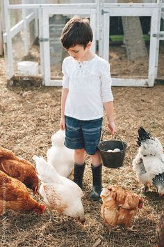 A farm girl feeding the flock( by Melanie DeFazio - Stocksy United - Royalty-Free Stock Photos) Country Farm, Country Life, Country Girls, Country Living, Farm Kids, Future Farms, The Farm, Chickens And Roosters, Farms Living