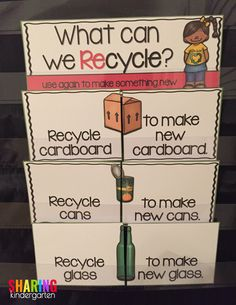 Earth Day Made Easy - Sharing Kindergarten Recycling Facts, Recycling Information, Common Core Curriculum, Creative Curriculum, What Can We Recycle, Facts About Earth, Cardboard Recycling, Earth Day Activities, Honey