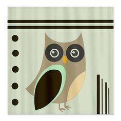 Cute Owl Shower Curtain