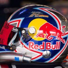 Kasey Kahne Red Bull NASCAR helmet