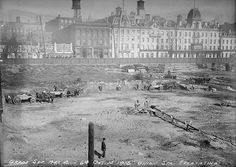 Excavation of Union Station site on Front St. opposite The Queen's Hotel, City of Toronto Archives, Fonds Series Subseries Item 64 Toronto Pictures, Old Pictures, Old Photos, Vintage Photos, Toronto Ontario Canada, Toronto City, Visit Canada, Canadian History, Union Station