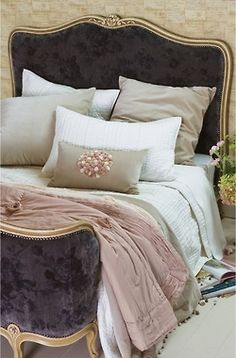 Country Bedroom. Velvet and Soft. Peach and chocolate.