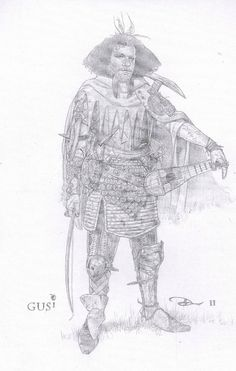 Dwarf costume sketch from Snow White and the Huntsman by Costume Designer Colleen Atwood