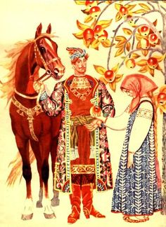 VK is the largest European social network with more than 100 million active users. Russian Traditional Dress, Character Inspiration, Character Design, Russian Folk Art, Russian Culture, Roman Art, Equine Art, Conte, Illustrations