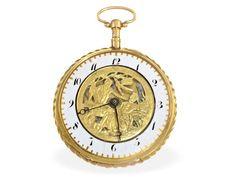 Taschenuhr: große, außergewöhnliche französische Repetier-Uhr, Chaudoir Paris, um 1800 Ca. Ø57m
