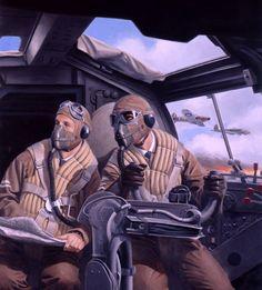 Battle of Britain German Bomber Pilot, Convention box art, by Larry Selman: