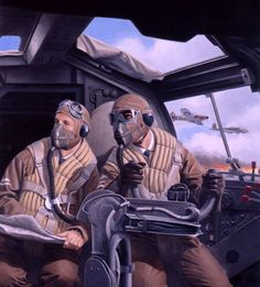 Battle of Britain German Bomber Pilot, Convention box art, by Larry Selman:
