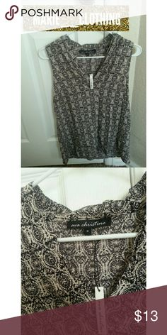 Ava Christine Top This is a cute top with patterns from Ava Christine. This top would be perfect for a casual day out! This top is NWT!!! Fabric: 100% Rayon // No Trades. // // Please don't advertise your closet. // // Feel free to make an offer!!! // Ava Christine Tops