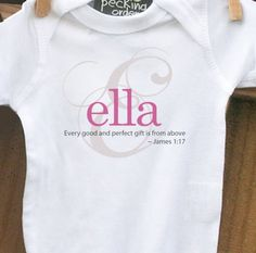 baby shower gift - custom personalized monogram baby onesie  for the new little one in your life