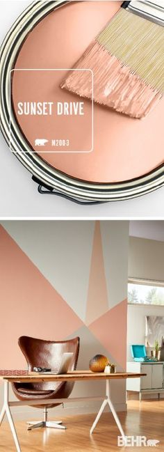 Make your home as colorful as you are with a bright pop of Sunset Drive by BEHR. Make your home as colorful as you are with a bright pop of Sunset Drive by BEHR® Paint.