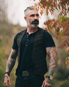 Sunday's are for your best! Our drop shoulder henley with our plaid waist coat! PROMOCODE 20henley for 20% off of Henley's this weekend. #fashion #style #madeinusa #dapper #henley #waistcoat #vintageinspired #dapper #swaggy #like #potd #ootd #men #menswear #tattoo #ink #beard