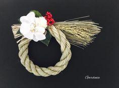 お正月 しめ飾り(玄関飾り)|しめ縄・しめ飾り|gardenia|ハンドメイド通販・販売のCreema