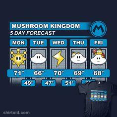 """Mario Forcast"" aka ""Mushroom Kingdom 5 Day Weather Forecast"" by adho1982"