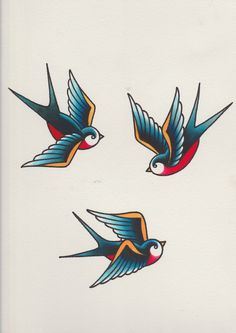 How to Draw a Group of Swallows in a Retro Tattoo Style tattoos Rose Tattoos, Arm Tattoos, Body Art Tattoos, Sleeve Tattoos, Tatoos, Tattoo Thigh, Gemini Tattoos, Retro Tattoos, Trendy Tattoos