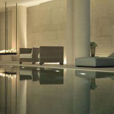 Spa at Bulgari Hotel Milano by Italian architect Antonio Citterio Milan Hotel Interior Designs Bulgari Hotel Milan, Bulgari Hotels, Milan Hotel, Spa Design, Design Hotel, Spa Luxe, Luxury Spa, Spa Interior, Pool Spa