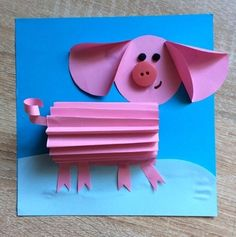 Pig Crafts, New Year's Crafts, Diy And Crafts, Crafts For Kids, Arts And Crafts, Paper Roll Crafts, Diy Paper, Infant Activities, Activities For Kids