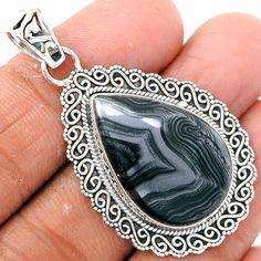 Psilomelane 925 Sterling Silver Pendant Jewelry PSLP343 - JJDesignerJewelry