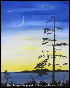 ADIRONDACK SUNSET at Saratoga Paint and Sip Studio—Get creative with your ADK sky!!!