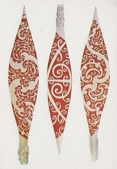 Maori canoe paddles Cookislands legend Mike Carved three original paddles each depicting different islands Black Tattoos, Tribal Tattoos, Tattoo Maori, Maori Patterns, Print Patterns, Pyrography Designs, Pyrography Ideas, New Zealand Tattoo, Polynesian Art
