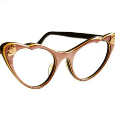 d60d1723947a Brown and Yellow Cat Eye Glasses by American Optical. Susan Marie