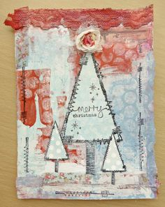 Mixed-Media Holiday Cards by Guest Artist Lynne Moncrieff