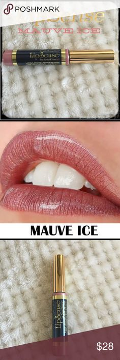 LipSense MAUVE ICE Long Lasting Lip Color   LipSense MAUVE ICE Long Lasting Lip Color The premier product of Senegence, LipSense lasts all day – up to 18 hours. It is water-proof, kiss-proof, smudge-proof, and completely budge-proof. LipSense comes in a variety of captivating colors and can be layered to produce your own custom look.  I am not a consultant… But I have used LIPSENSE for 15 years and do not go a day without it! Wanted to share one of my favorite makeup must haves with y'all…