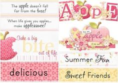 Ròtulos del Clipart de Dulces Manzanas.