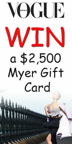 Win a $2,500 #Myer Gift Card from Vogue's new #competition! #shopping #Fashion