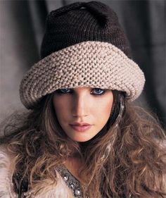 knit hats for women | Wide Brimmed Hat ... by Vogue Knitting | Knitting Pattern