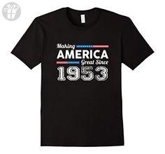Mens Making America Great Since 1953 Birthday Gift tshirt Small Black - Birthday shirts (*Amazon Partner-Link)