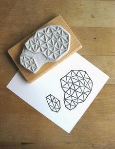 of paper and things: paper fix | hand-carved stamp sets