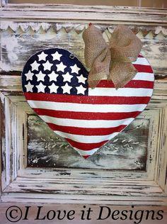 39 Ideas Country Burlap Door Hangers Easter Eggs For 2019 Patriotic Crafts, July Crafts, Patriotic Decorations, Holiday Crafts, Burlap Projects, Burlap Crafts, Decor Crafts, Craft Projects, Burlap Door Hangings