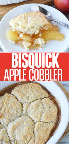 This Bisquick Apple Cobbler Recipe uses 5 ingredients for an authentic dessert ready with just a few minutes and steps. A great recipe for Thanksgiving! Bisquick Apple Cobbler Recipe, Apple Cobbler Easy, Bisquick Recipes, Simple Apple Pie Recipe, Recipe Using Apples, Healthy Apple Desserts, Canned Apple Pie Filling, Apple Pie Recipes, Apple Pies