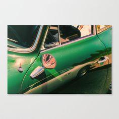 Green car Stretched Canvas by Sébastien BOUVIER - $85.00 Art Prints, Stretched Canvas, Car, Green, Mini, Art Impressions, Automobile, Cars, Art Print