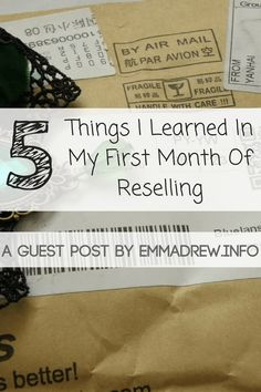 Today I'm joined by Emma Drew from EmmaDrew.info. This year her and her husband have taken up reselling on eBay. I'm excited to have her share five things she's learnt during her first month with you today
