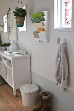 Convert an Unused Hallway Into a Light, Bright, Organized Entryway   |   Design Mom