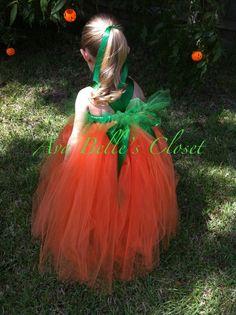 Little Pumpkin Tutu Halloween Costume 12m to 5T by AvaBellesCloset