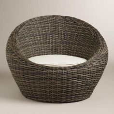With a comfortable cushion, our round chair is a unique seating solution for your outdoor haven. It's crafted of resin wicker, which has the rustic look of natural wicker but is made to withstand the elements.