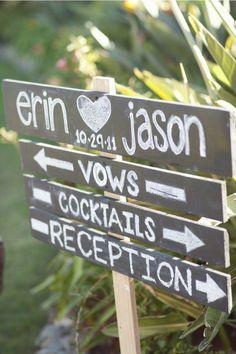 Cute idea for an outside wedding/reception