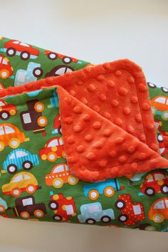 Baby Boy Colorful Cars Stroller Blanket  by firstcrushdesigns, $20.00