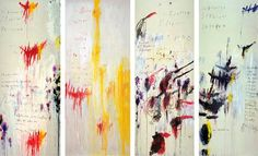 Cy Twombly - Quattro Stagioni: Keats: Four Seasons fill the measure of the year; There are four seasons in the mind of man: He has his lusty Spring, when fancy clear      Takes in all beauty with an easy span: He has his Summer, w...