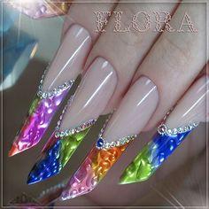 Creative Nail Designs, Beautiful Nail Designs, Beautiful Nail Art, Creative Nails, Nail Art Designs, Acrylic Nail Art, Painted Nail Art, Stylish Nails, Trendy Nails