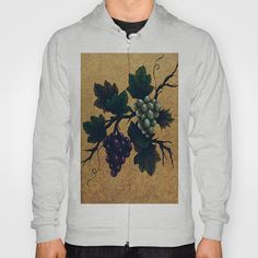"""Tuscan grapes"" Hoody by Precision Studio by Theresa Somerset - $42.00"
