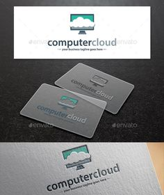 Computer Cloud Logo Template  This logo Template used for any mobiles Technology, Design Studios, Software and Appsetc and other b