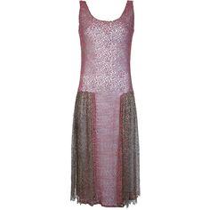 MERCHANT ARCHIVE VINTAGE 1920's dress ($1,583) ❤ liked on Polyvore featuring dresses, vintage, 1920s drop waist dress, 1920s day dress, purple sleeveless dress, vintage 1920s dresses and 20s dresses