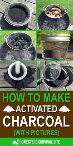 How to Make Activated Charcoal (With Pictures) – Homestead Survival Site How to Make Activated Charcoal (With Pictures) – Homestead Survival Site,prepping/DIY It is very difficult to make activated charcoal, but if you're patient. Homestead Survival, Survival Food, Wilderness Survival, Camping Survival, Outdoor Survival, Survival Prepping, Emergency Preparedness, Survival Skills, Survival Quotes