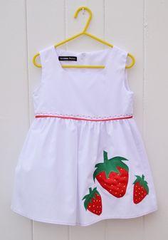 Age 3 - Strawberry Applique Dress £16.99